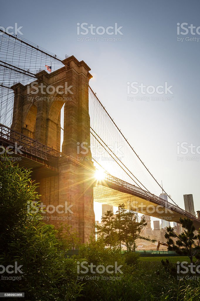 Brooklyn Bridge Park stock photo