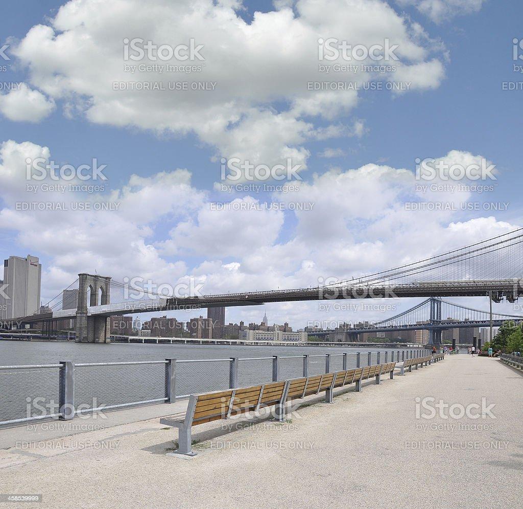 Brooklyn Bridge Park Promenade royalty-free stock photo