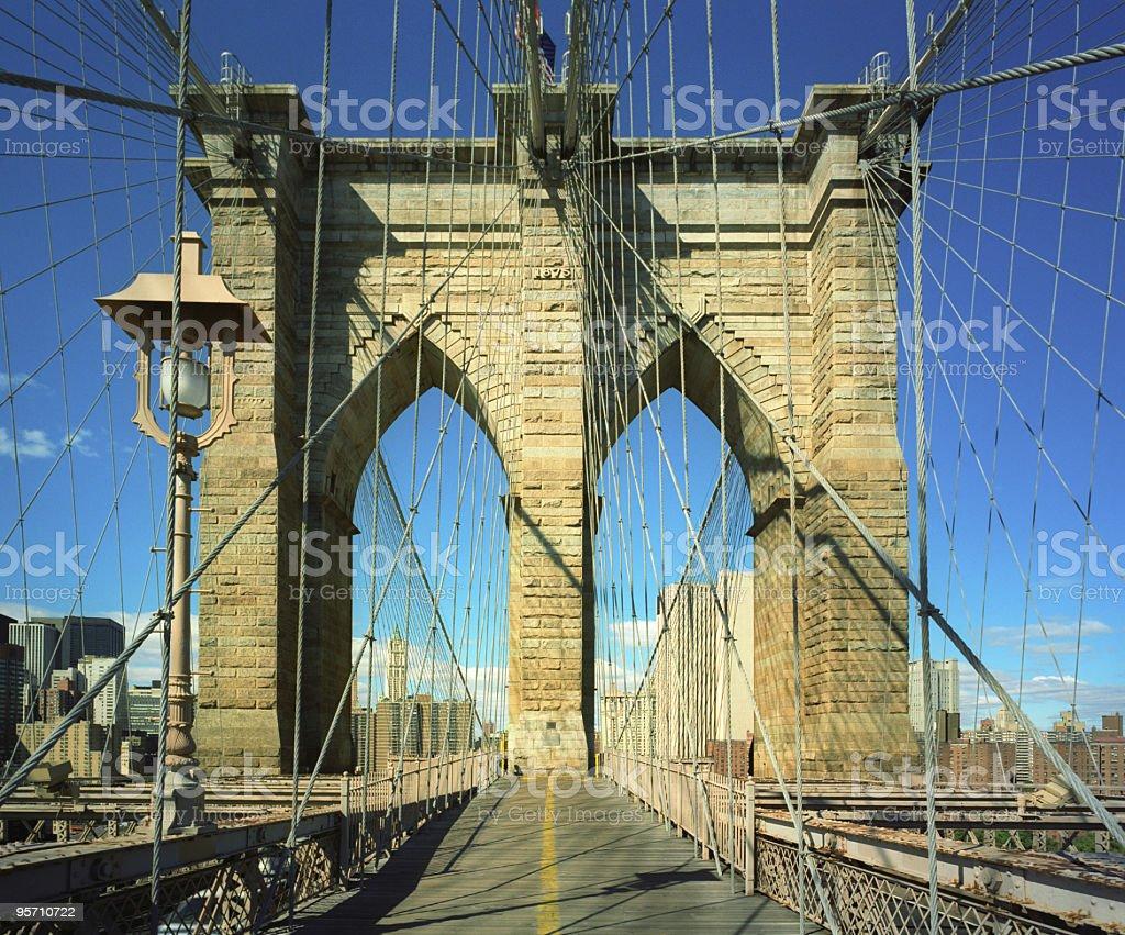 Brooklyn Bridge Path royalty-free stock photo