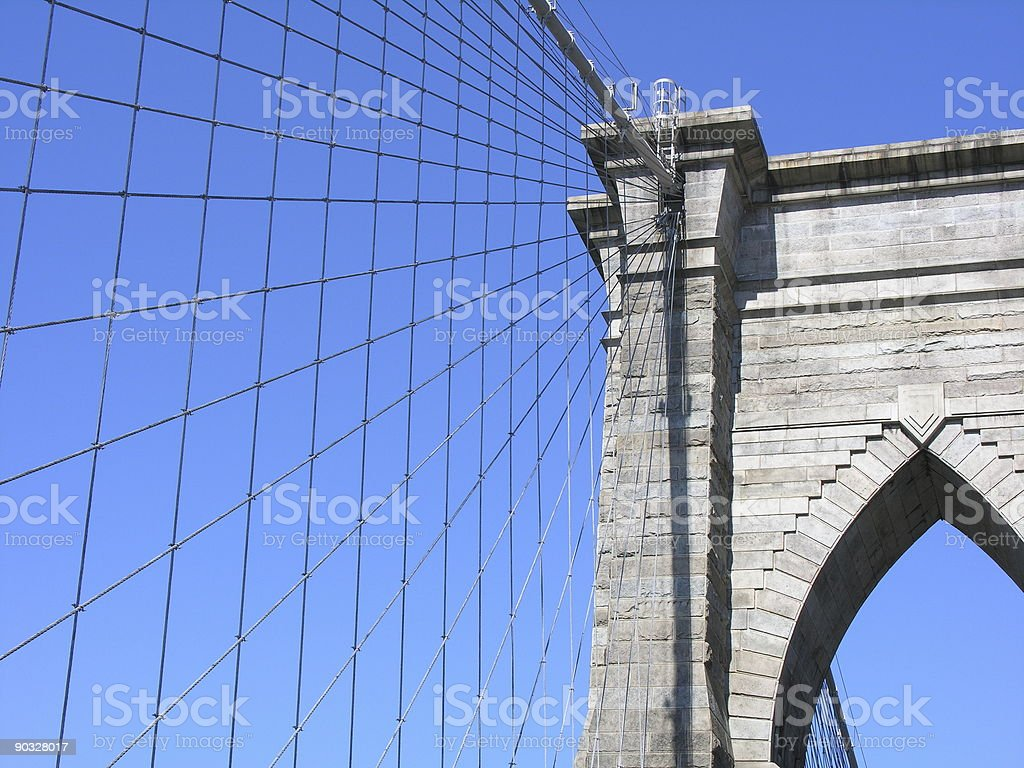 Brooklyn Bridge royalty-free stock photo
