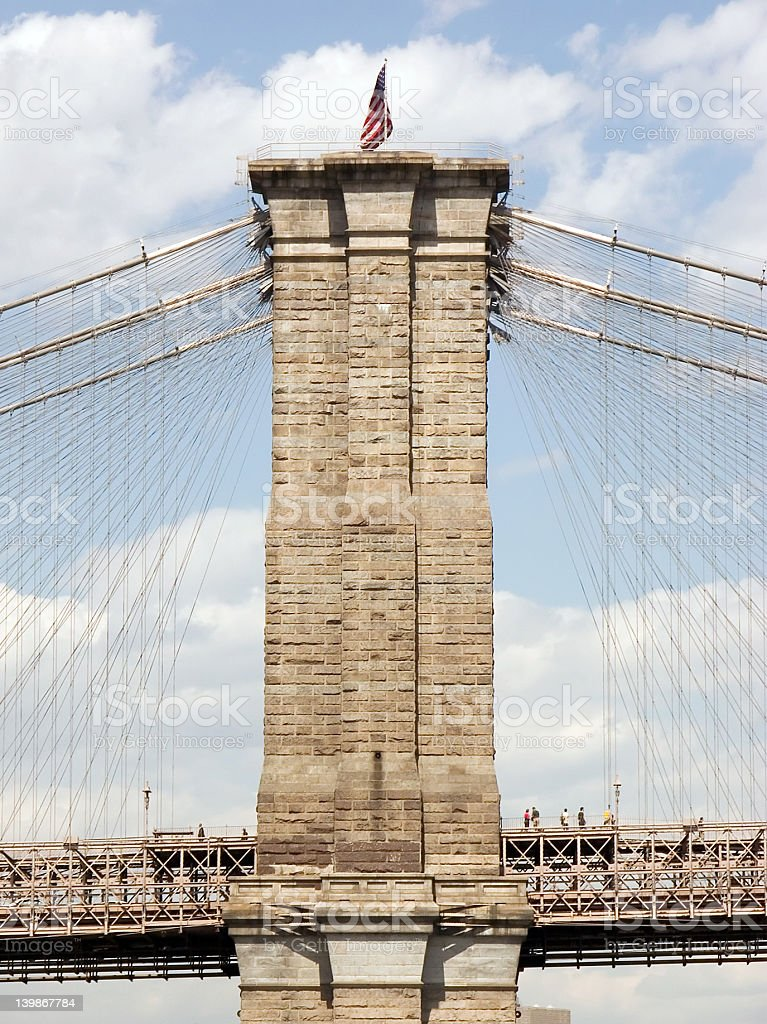 Brooklyn Bridge Profile royalty-free stock photo