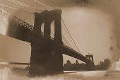 Brooklyn Bridge Sepia Retrospective