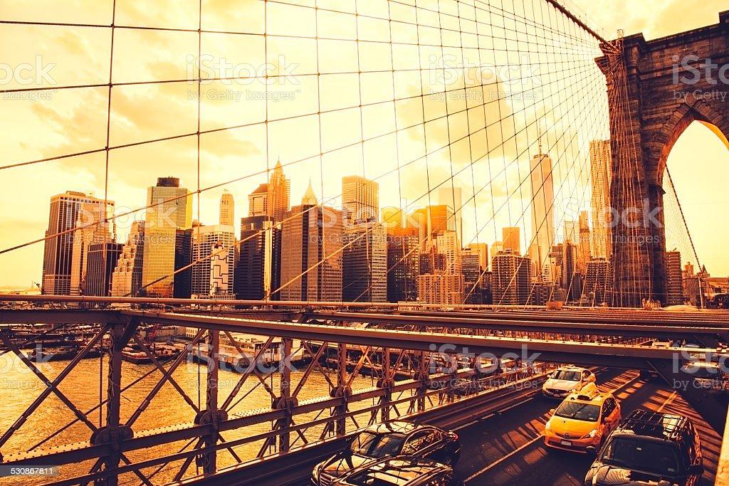 Brooklyn Bridge Skyline stock photo