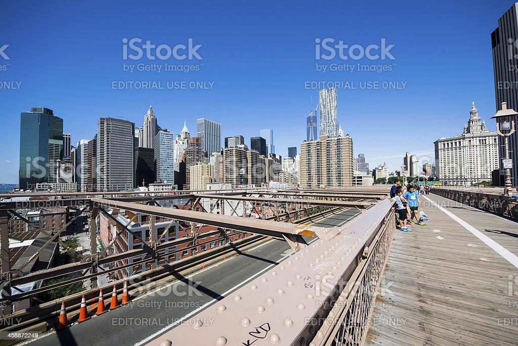 Brooklyn Bridge start royalty-free stock photo
