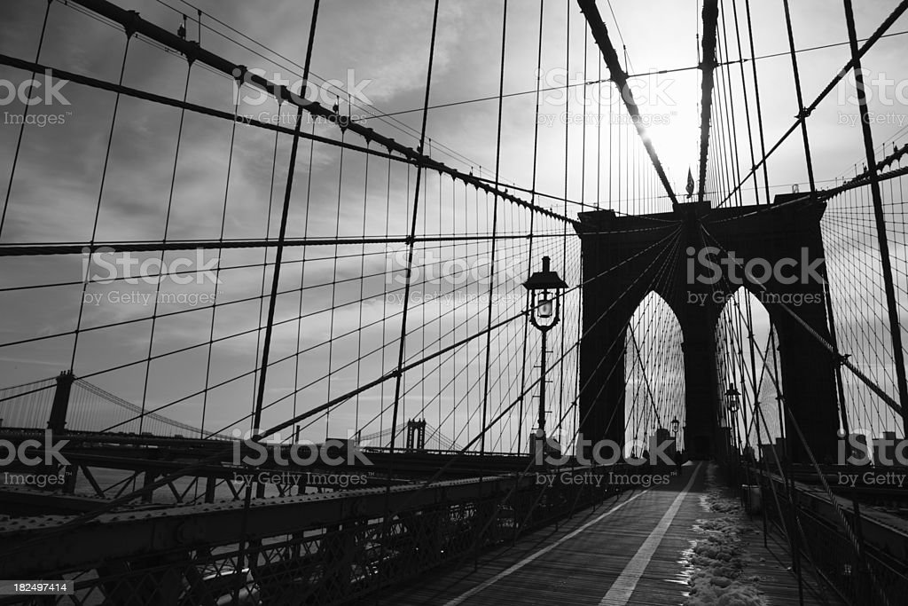 Brooklyn Bridge Sunrise royalty-free stock photo