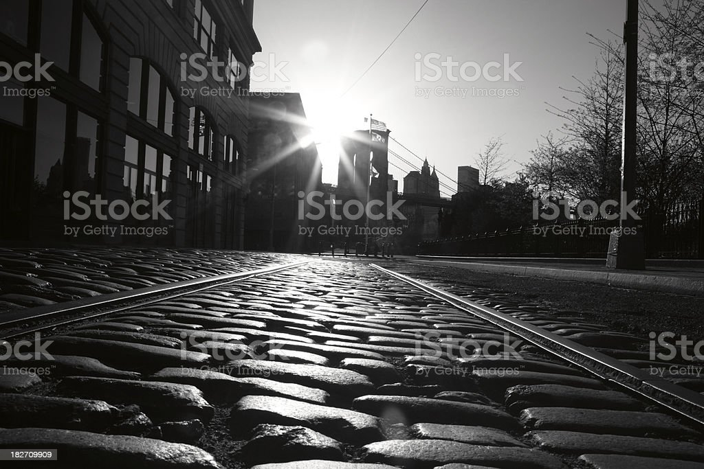 Brooklyn Bridge Sunset royalty-free stock photo