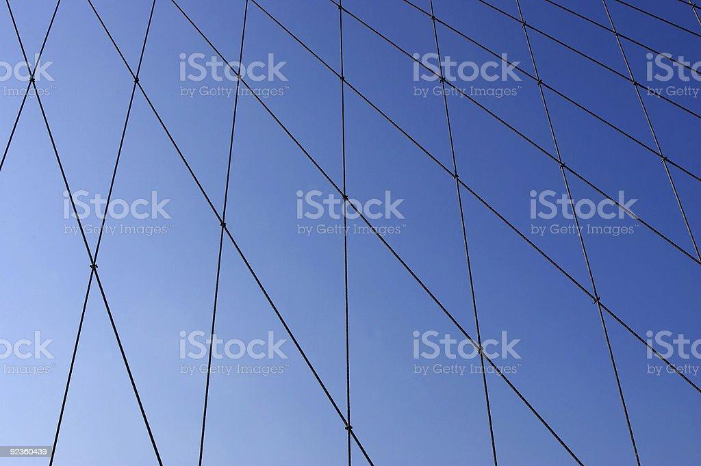 Brooklyn bridge suspension webbing stock photo