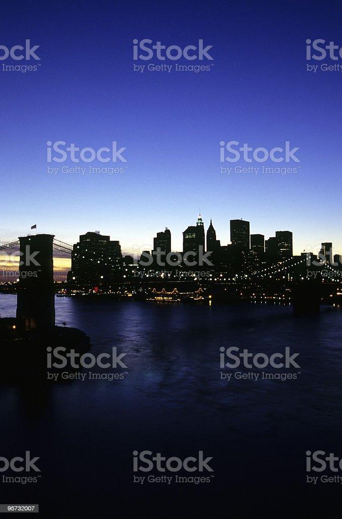 Brooklyn Bridge Vertical, New York, USA royalty-free stock photo