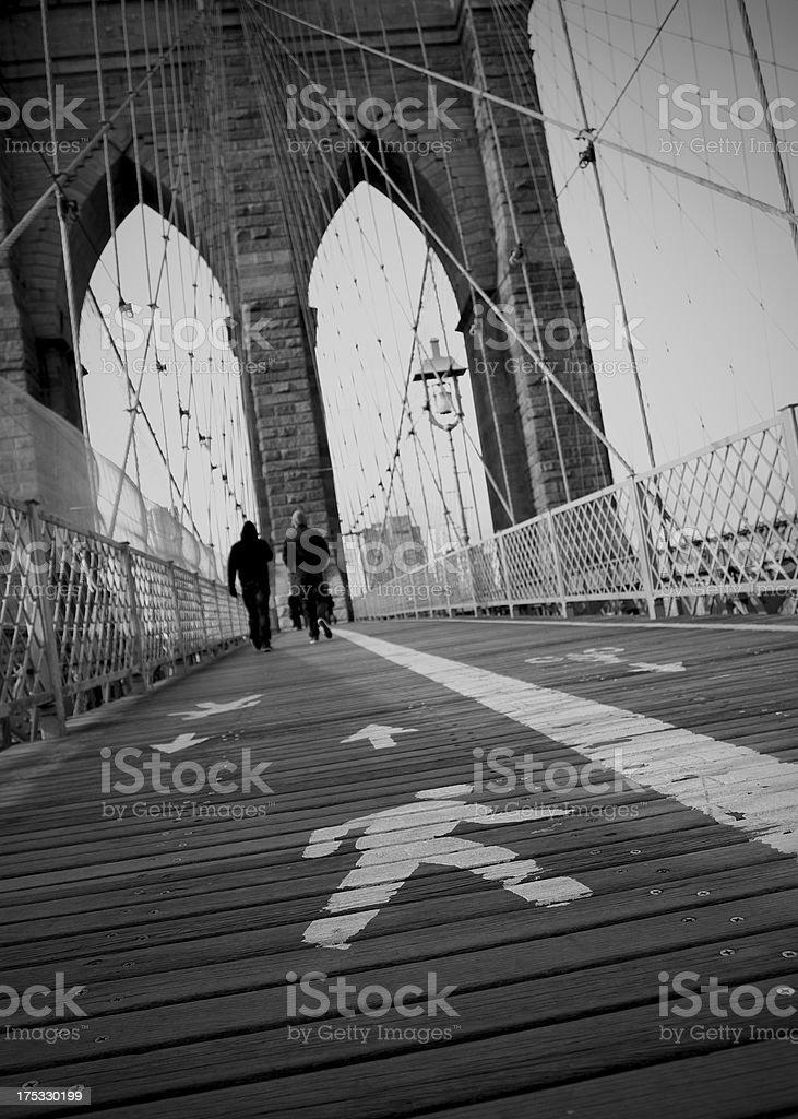 Brooklyn Bridge Walkway royalty-free stock photo