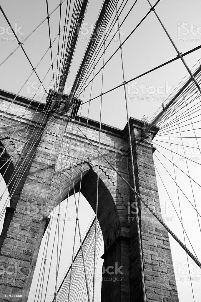brooklyn bridge web royalty-free stock photo