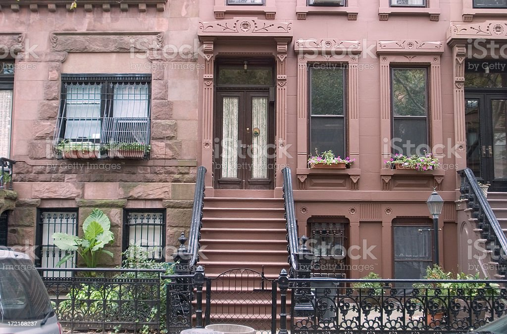 Brooklyn brownstone royalty-free stock photo