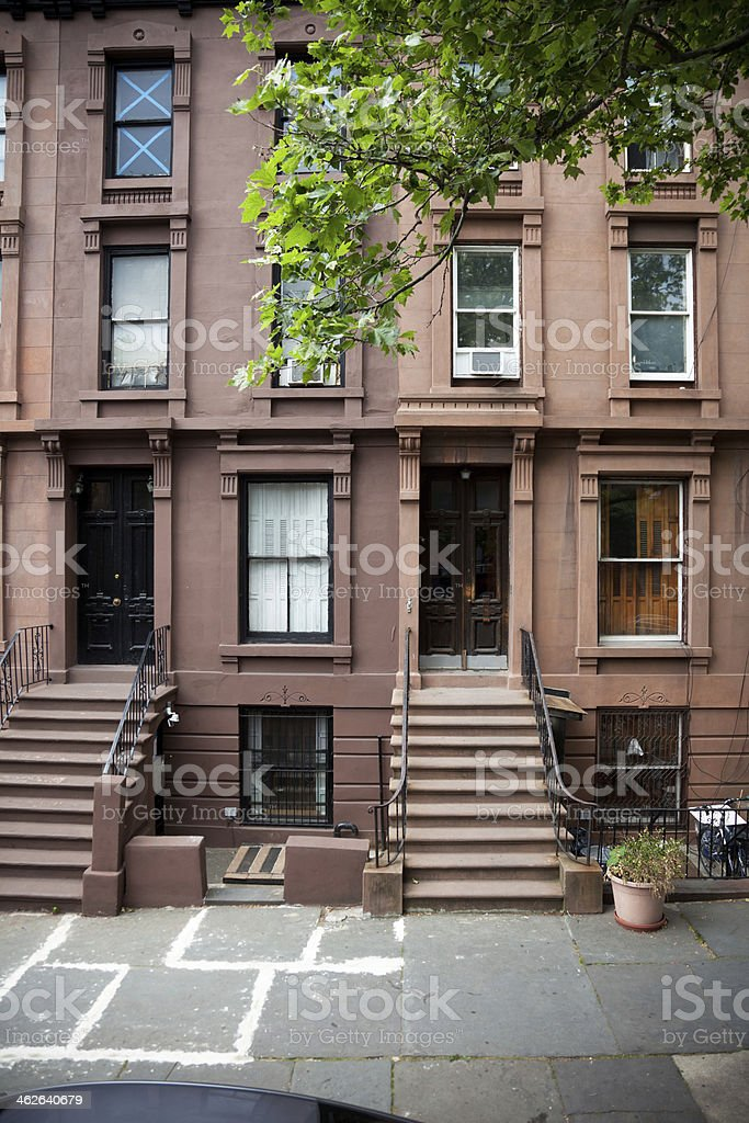 Brooklyn Brownstone stock photo