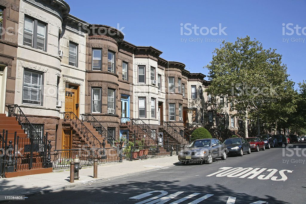 Brooklyn Brownstones stock photo