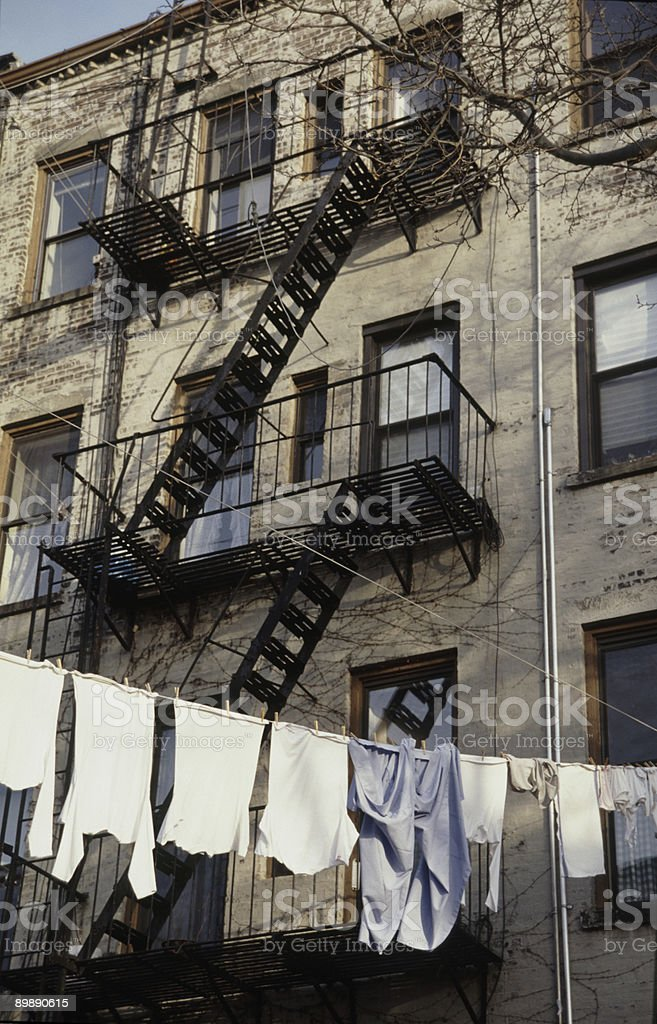 Brooklyn Clothesline royalty-free stock photo