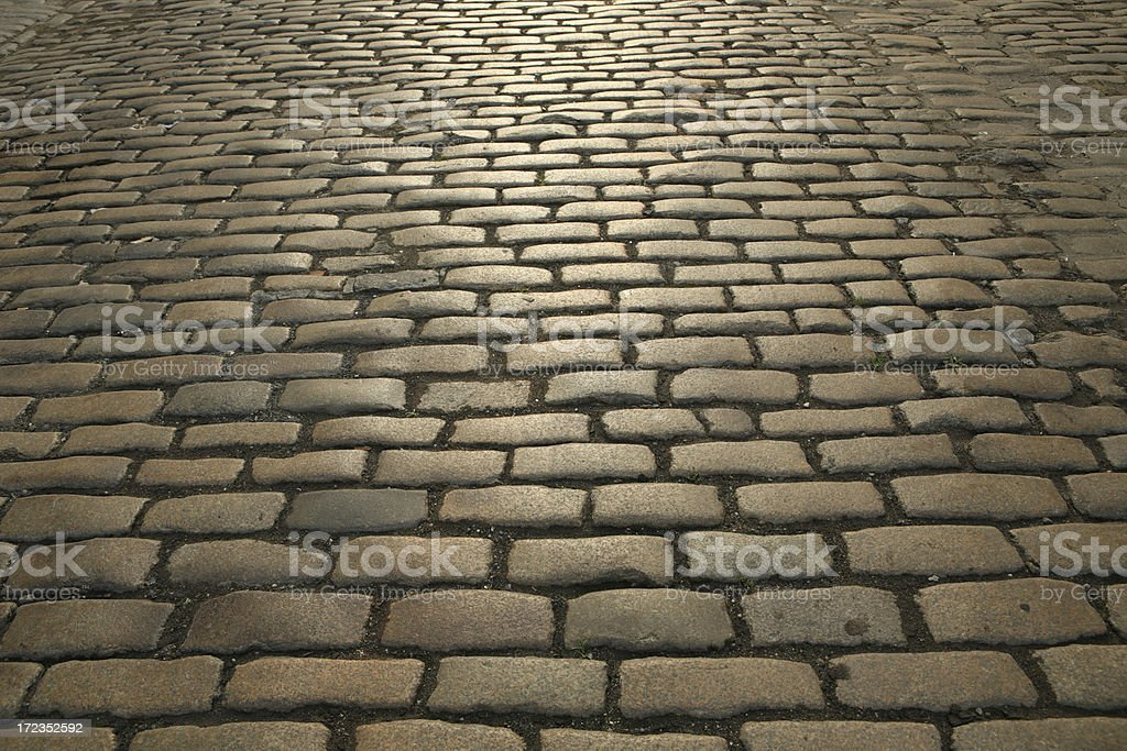 Brooklyn Cobblestone Street Pavement royalty-free stock photo