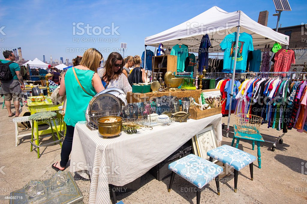 Brooklyn Flea Market stock photo