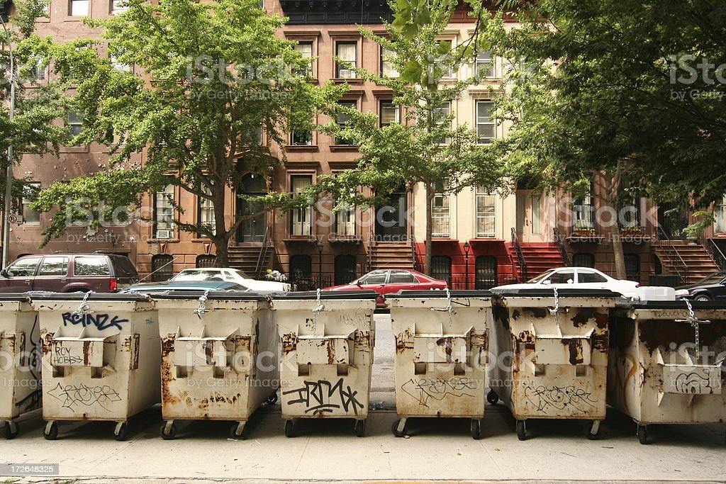 Brooklyn Garbage Dumps royalty-free stock photo