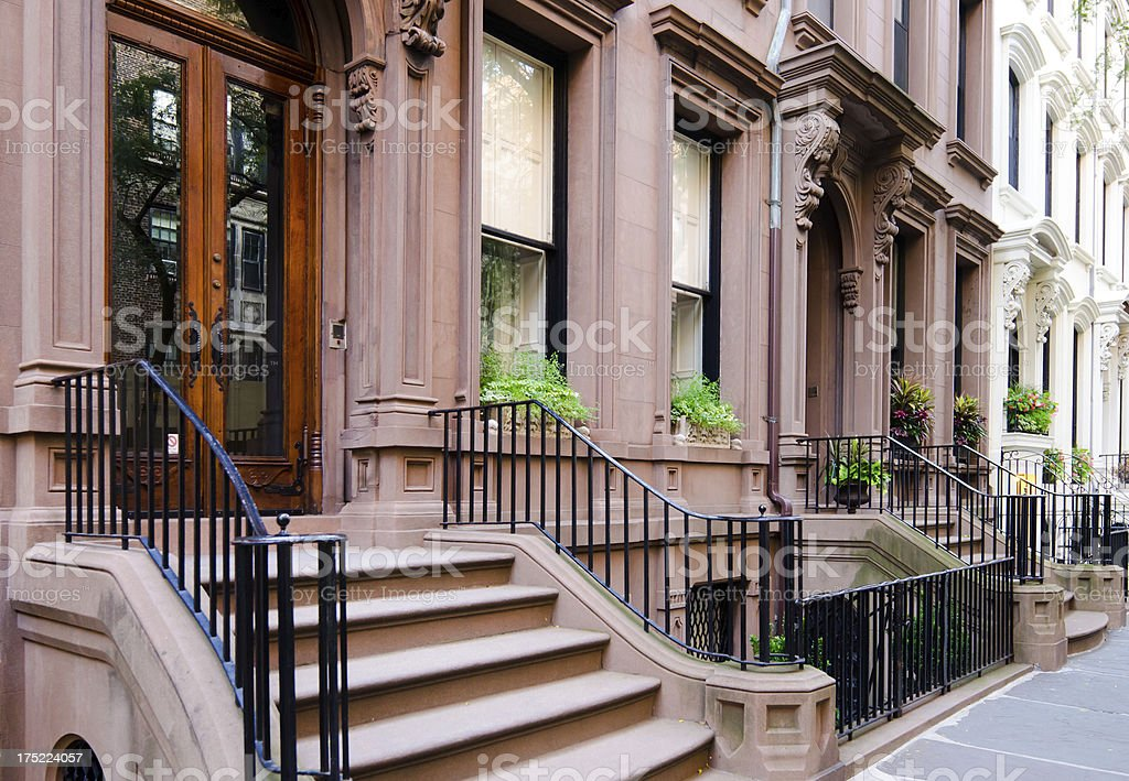 Brooklyn Heights homes in New York City stock photo