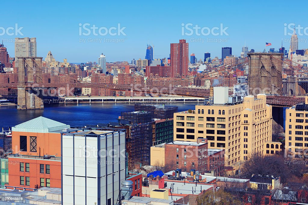 Brooklyn heights, New York City stock photo