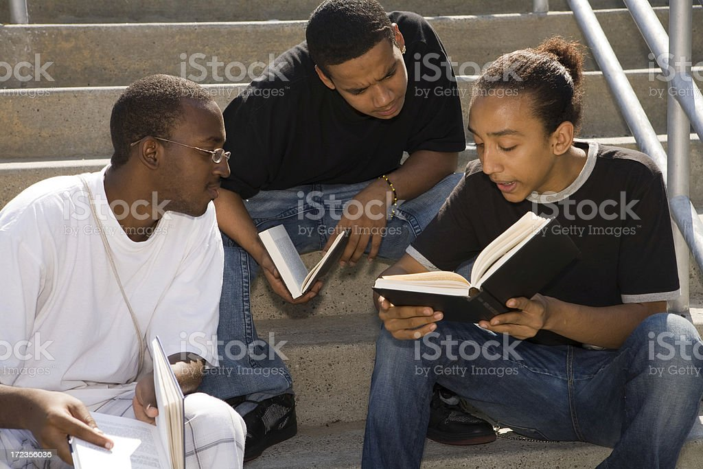 Brooklyn kids studying royalty-free stock photo
