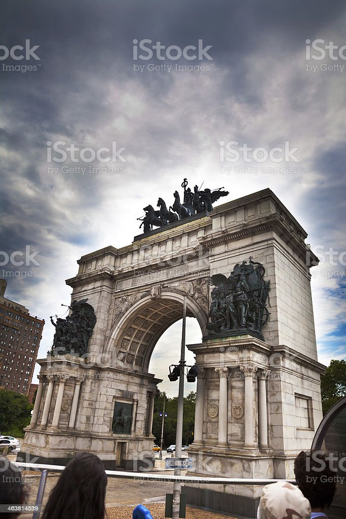 Brooklyn Landmarks: Soldiers' and Sailors' Memorial Arch stock photo