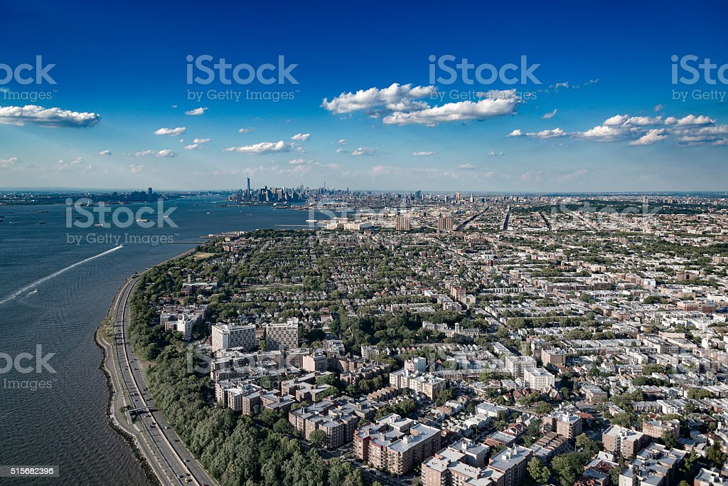 Brooklyn New York Aerial stock photo