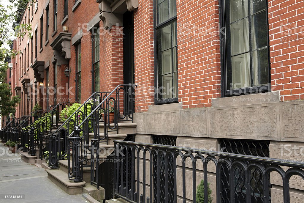 Brooklyn New York City Townhouses royalty-free stock photo
