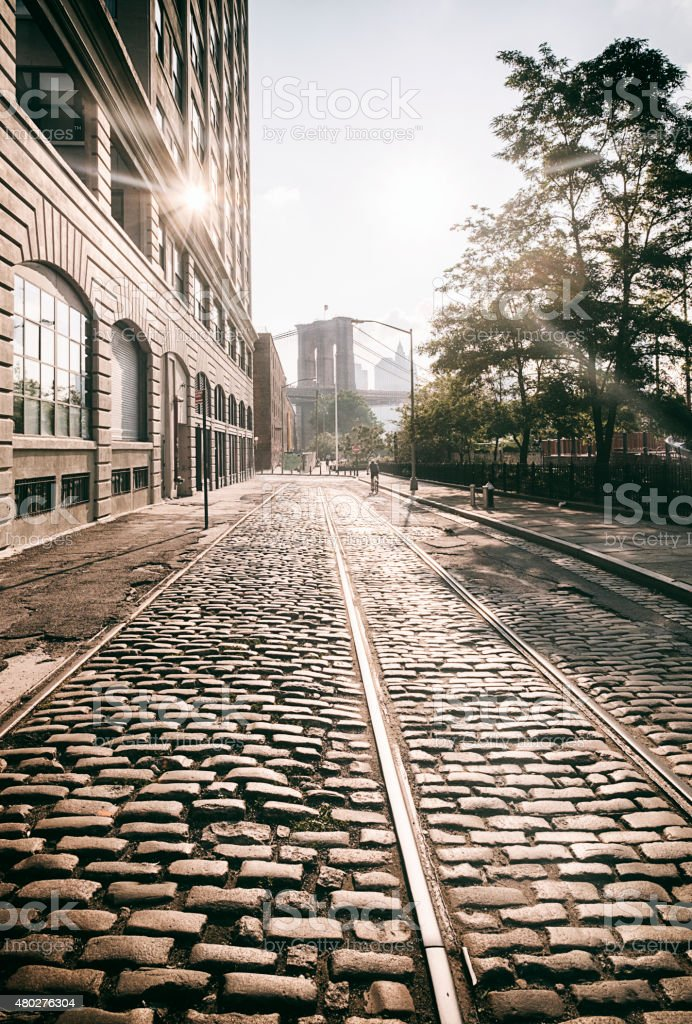 Brooklyn New York Street stock photo