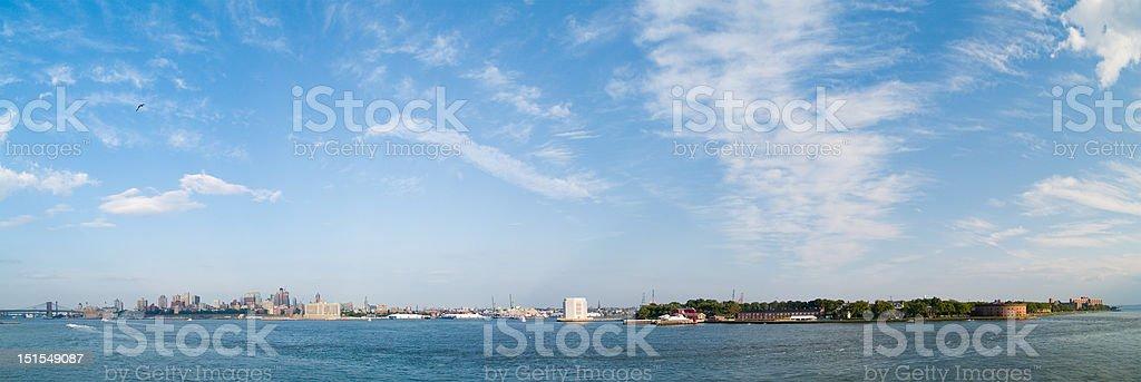 Brooklyn Panorama stock photo