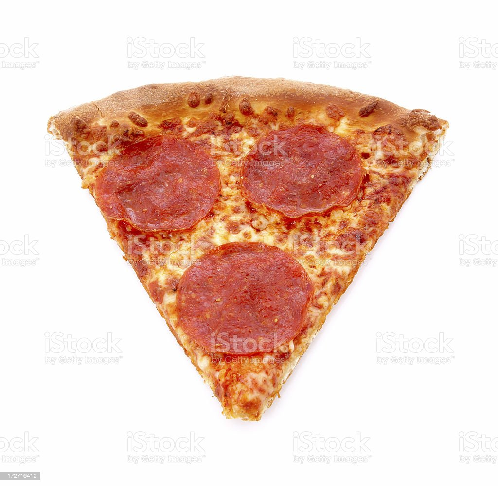 Brooklyn Style Pizza Slice royalty-free stock photo