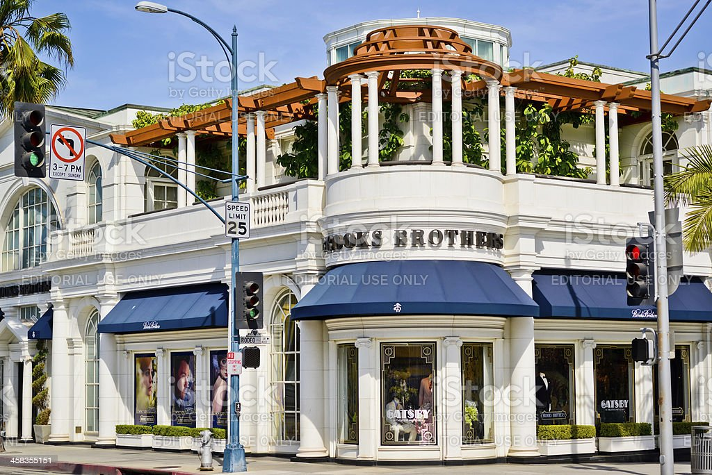 Brooks Brothers Store on Rodeo Drive, Beverly Hills royalty-free stock photo