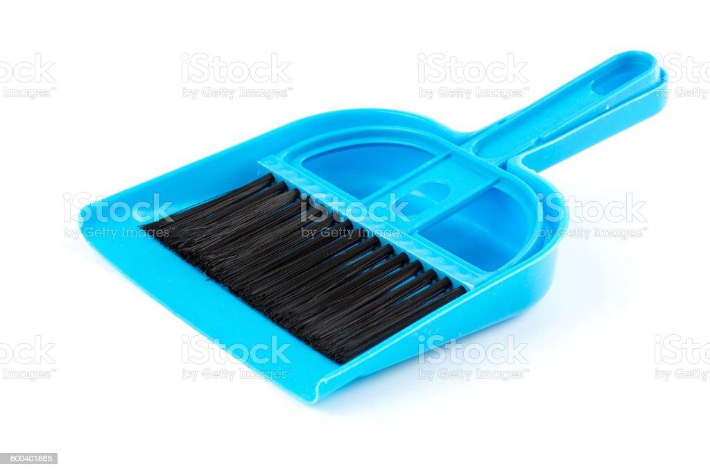 Broom and Dustpan stock photo
