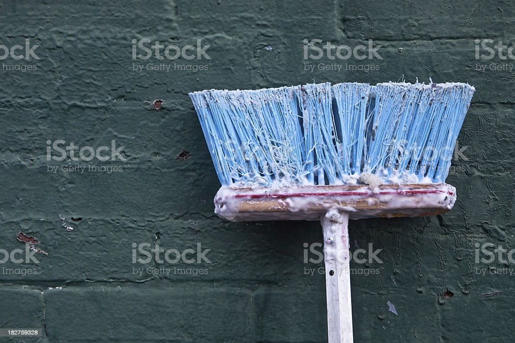 Broom for Wheatpaste royalty-free stock photo