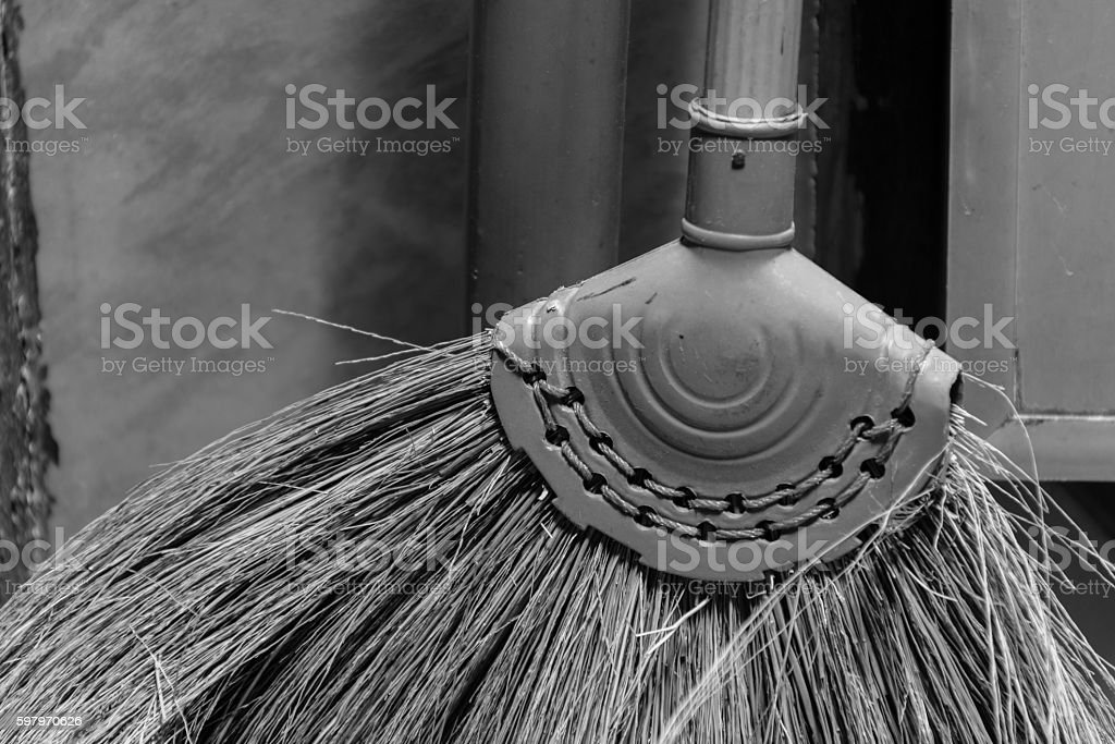 broom grass texture and background stock photo