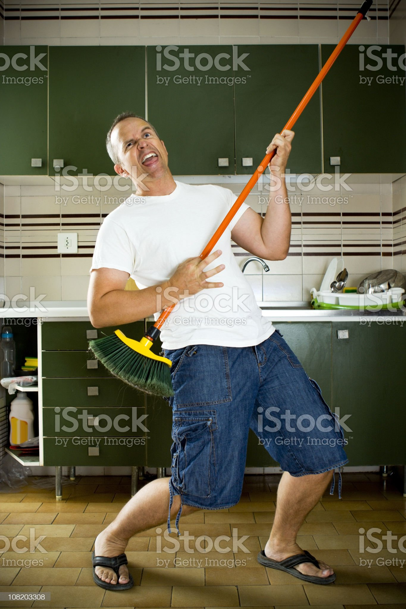 Broom Guitar royalty-free stock photo