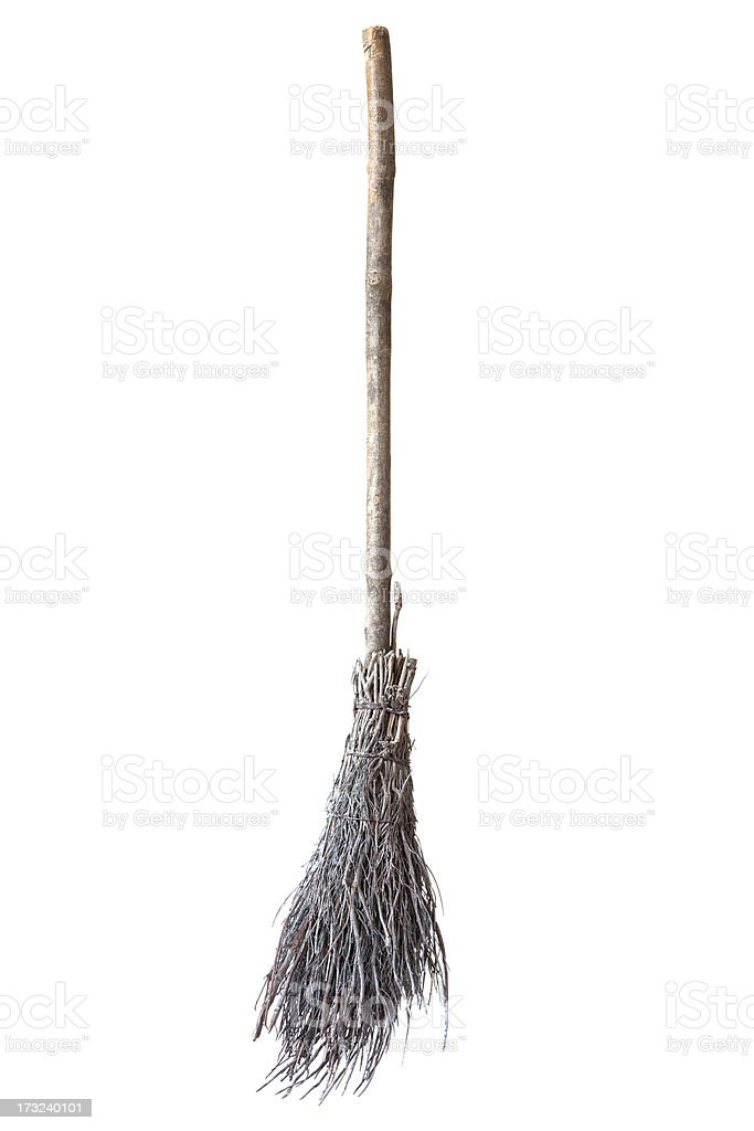 Broom Made Of Twigs stock photo