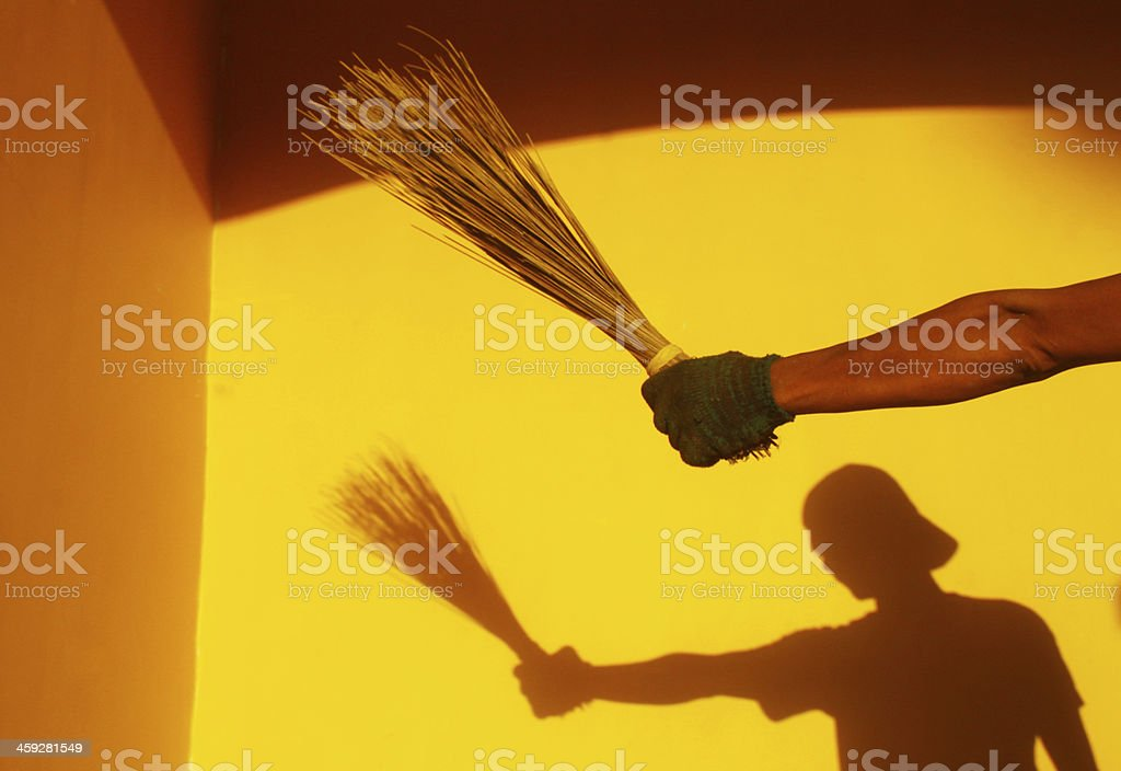 Broom Shadow stock photo