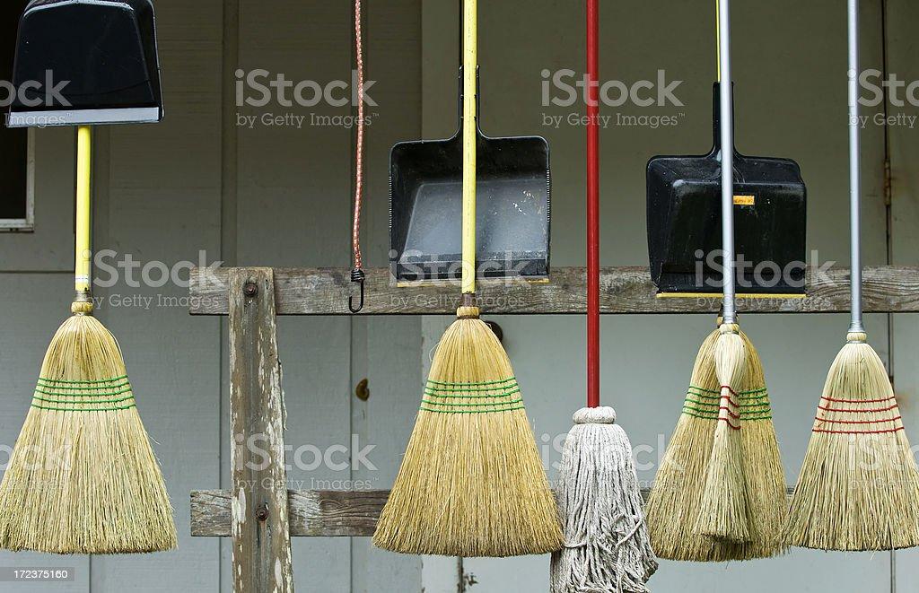 Broom Squad stock photo