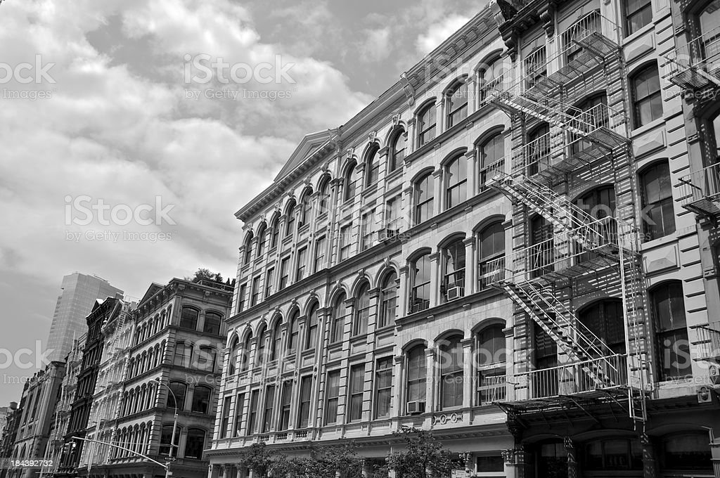 Broome Street, SOHO cityscape, New York City stock photo