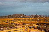 Broomfield, Colorado and the Flatiron Mountain Range