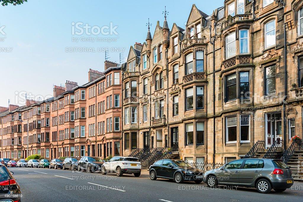 Broomhill Drive Glasgow stock photo
