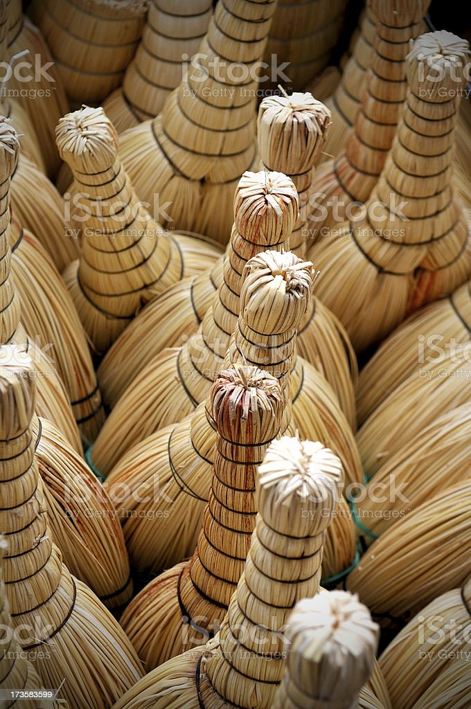brooms royalty-free stock photo