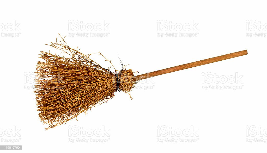 Broomstick of a Witch royalty-free stock photo