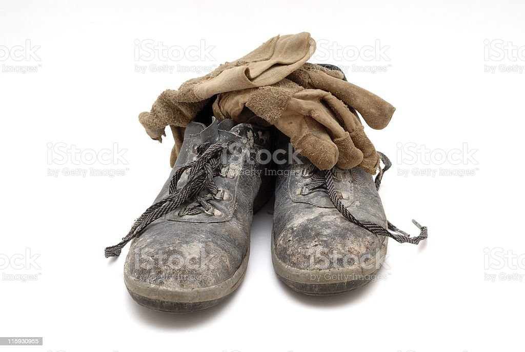 Broque, hard-toed boots royalty-free stock photo