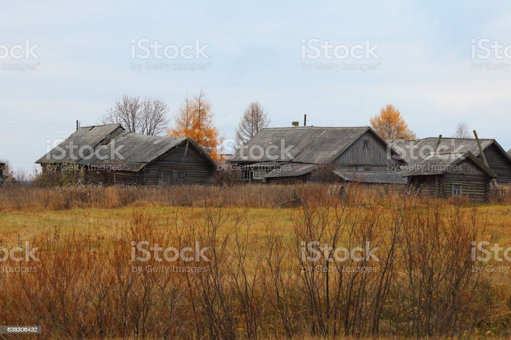Broshenoe village, Kostroma, Russia. stock photo