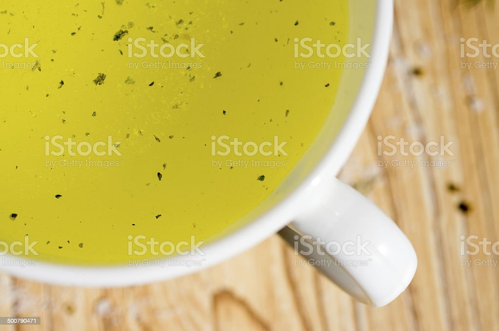 Broth, bouillon, clear soup stock photo