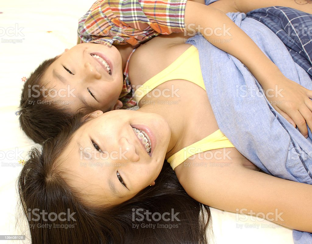 brother and sister 2 royalty-free stock photo