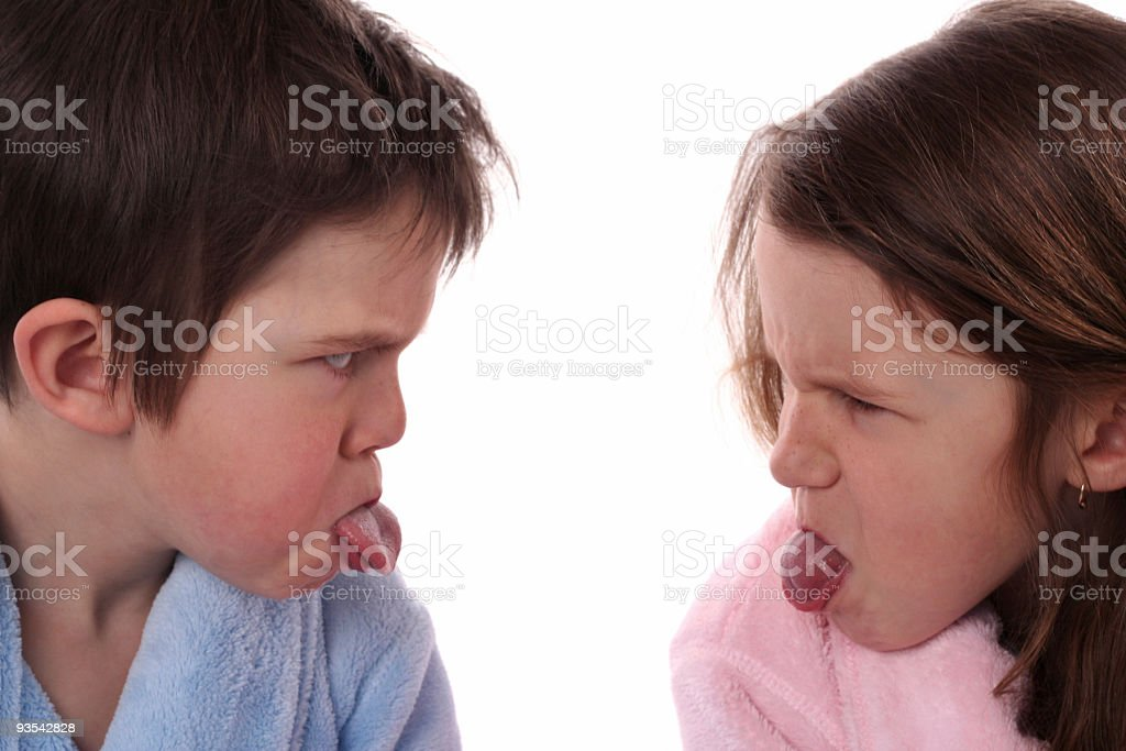 Brother And Sister Getting Along royalty-free stock photo
