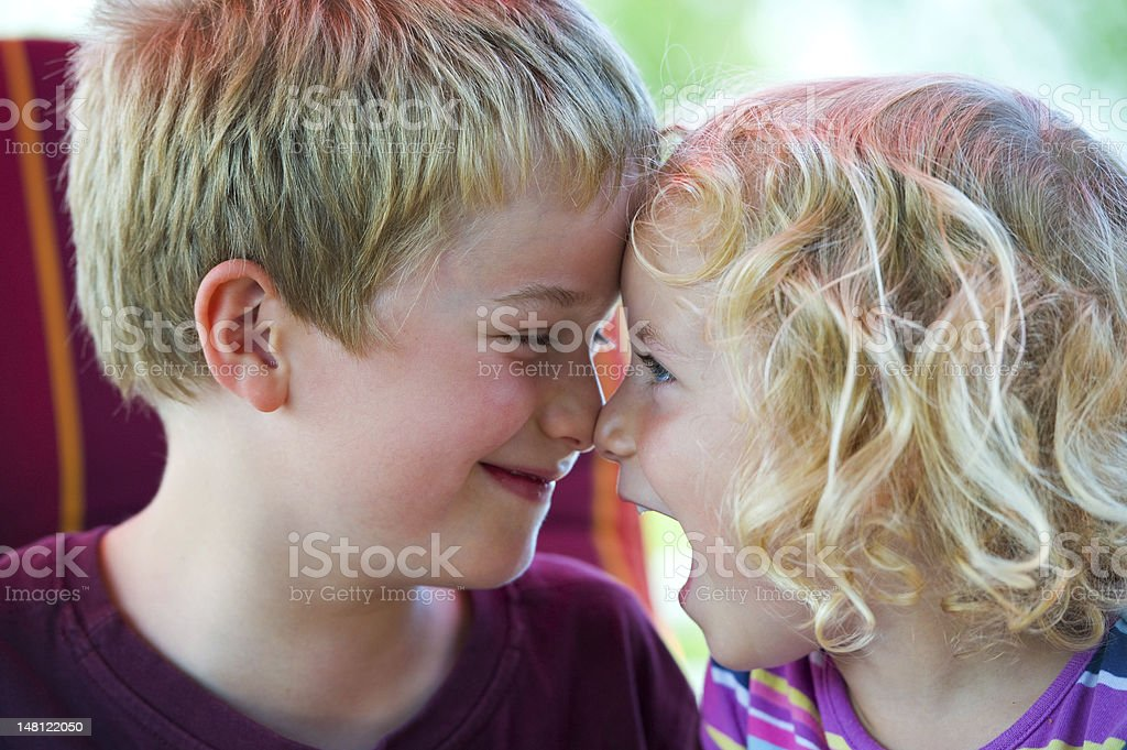 brother and sister stock photo