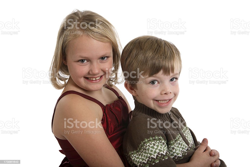 Brother and sister. royalty-free stock photo